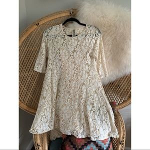 XS Free People Miles of Lace Dress